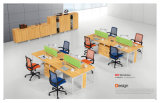 Modern Furniture Office 4 Person Wooden Workstation