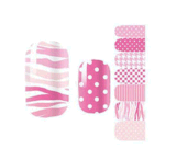 Fashion Girlish Waterproof Cute Temporary Water Transfer Nail Sticker