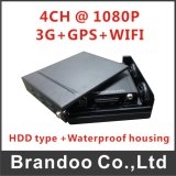 1080P HD 4cameras Car Security DVR 1tb HDD SD Card