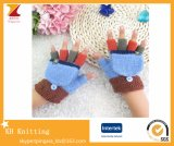 Wholesale Winter New Knitted Warm Children Fingerless Gloves with Clamshell Gloves