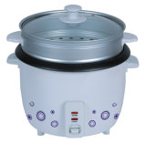 Rice Cooker with Steamer & Glass Lid