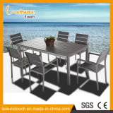 Garden Outdoor Furniture Simple Aluminum Plastic Wood Chair Table Set