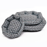 Grid Dog Quilted Pet Beds Square Fashion Dog Cushion