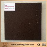 Best Quality Sparkling Brown Artificial Quartz Stone for Countertops