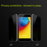 3D Full Cover Electroplating Anti Peep Privacy Tempered Glass Guard for iPhone 6/6 Plus