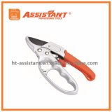 PTFE Coated Anvil Secateurs Hand Pruner Ratchet Design Garden Scissors