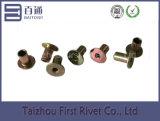 5X8mm Zinc Plated Flat Head Full Tubular Steel Rivet