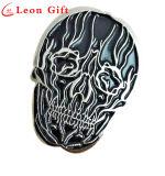 Cutomized Design Skull Shaped Black Enamel Lapel Pin