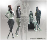 Abstract Mannequin for Store Fashion Display