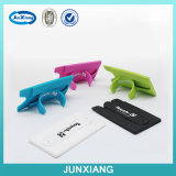 Silicone Stick Credit Card Holder Slot Shell Case for Smart Phone