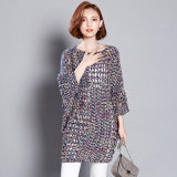 Lady Fashion Colorful Acrylic Polyester Knitted Hollow Pullover (YKY2057)