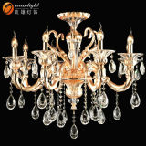 Classic Small Cognac Crystal Candle Chandelier Pendant Light Candle Lamp for Wedding Om88033
