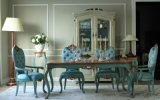 Divany Luxury Classic Wooden Dining Table with Chair