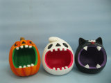 Halloween Pumpkin Ceramic Arts and Crafts Decoration (LOE2373-13)