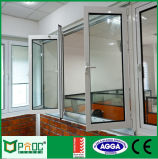 Non-Thermal Break Aluminum Bi-Fold Glass Window with CE