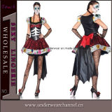 Theatrical Adult Fancy Dress Party Women Skeleton Halloween Costume (TLQZ6877)