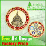 Fashion Custom Bronze Stamping Metal Gold Commemorative Coins