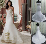 Beaded Satin Wedding Dress, Wedding Bridal Gown