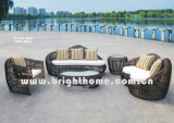 Round PE Rattan Wicker Outdoor Furniture Sofa Set Bp-860