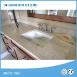 Yellow/Beige with Sparkle Quartz Countertops for Kitchen and Bathroom