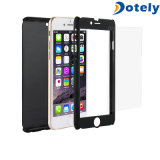 360 Protector Slim Skin Case with Tempered Glass for Cellphone