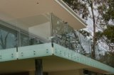 Frameless Tempered Glass Deck Railing / Porch Balustrade with Handrail