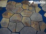 Rusty Mesh Slate Mosaic Tiles for Flooring/Wall (mm068)