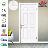 White Primer/ Veneer Molded/ Moulded HDF/ MDF Interior Wooden Door
