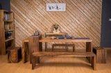 Flexible Tea House Walnut Wood Tea Table with Bench (CG-018)