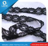 White Allover Jacquard Nylon Elastic Lace