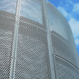 Staggered Round Perforation Aluminum Panels for Facade Cladding