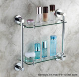 Bathroom Accessories Double Glass Shelves