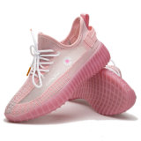 High Quality Women Comfort Knit Fabric Gilrs Fashion Daisy Sports Running Shoes for Lady