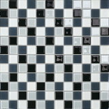 Grey, Black and White Glass Mosaic for Toilet Wall (G423002)