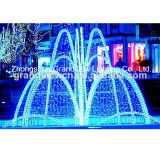 LED Illuminates Fountain and Transforms Into a Festive Holiday Attraction