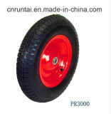 "Pneumatic high Quality 16 Inches (16""X4.00-8) Rubber Wheel (PR3000)"