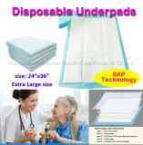 """24""""X 36"""" Disposable Medical Underpads for Incontinence Patient Care"""