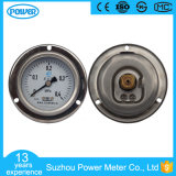 63mm Half Stainless Steel Pressure Gauge with Flange