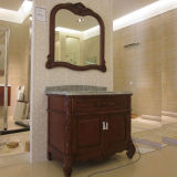 Oppein Classic Solid Wood Matte Lacquer Bathroom Cabinet (OP12-P42-103)