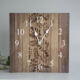 Competitive Wooden Wall Watch with Leaf Design