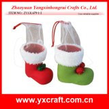 Christmas Decoration (ZY13L679-1-2) Christmas Winter Boot Father Christmas