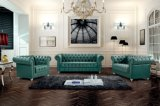 Leather Chesterfield Sofa Green Color Ms-10