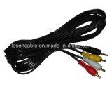 Audio Cable, 3RCA Plug to 3.5mm Stereo Plug