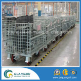 Four Caster Steel Storage Roll Container