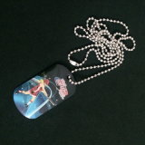 Colorful Offset Printing Dog Tag with Long Ball Chain