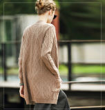 Women′s Cashmere Cardigan Sweater (13brdw136)