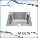 Above Counter Stainless Steel Moduled Kitchen Sink (ACS-4642)