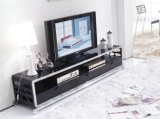 Living Room Furniture Black Oak Metal Stick TV Stand Wood 636