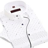 Comfort Wild Fashion Wave Point Printing Korean Casual Short-Sleeved Shirt