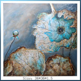 Abstract Handmade Lotus Leaf Oil Painting From Dongguan Factory (LH-700632)